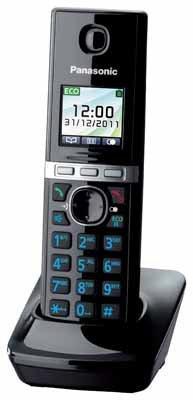 Panasonic Telefon-Mobilteil KX-TGA806EXB (Schwarz-Klavierlackoptik)