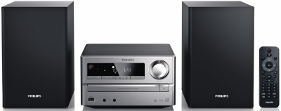 Philips Micro-Stereo-System MCM 2000/12 (Silber-Schwarz)