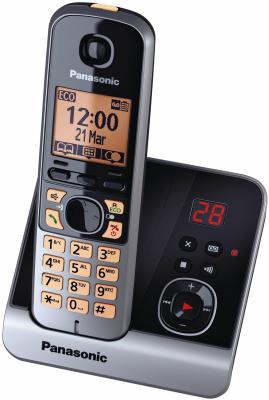 Panasonic Festnetz-Telefon (für analogen Anschluß) KX-TG6721GB (Schwarz)
